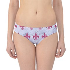 ROYAL1 WHITE MARBLE & PINK DENIM Hipster Bikini Bottoms