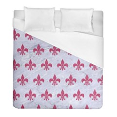 ROYAL1 WHITE MARBLE & PINK DENIM Duvet Cover (Full/ Double Size)