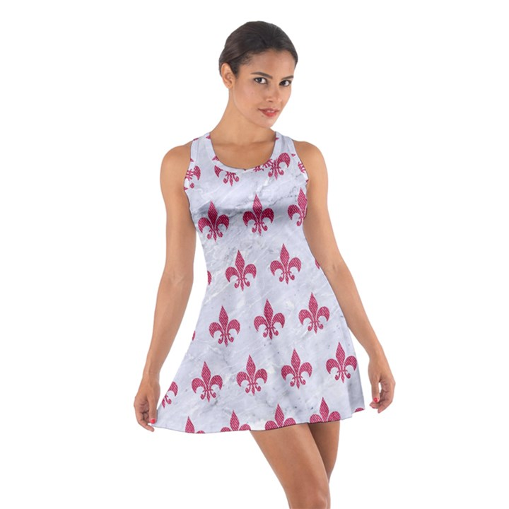 ROYAL1 WHITE MARBLE & PINK DENIM Cotton Racerback Dress