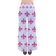 ROYAL1 WHITE MARBLE & PINK DENIM So Vintage Palazzo Pants