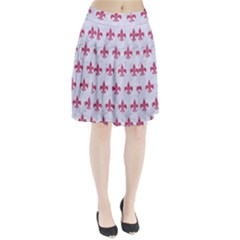 ROYAL1 WHITE MARBLE & PINK DENIM Pleated Skirt