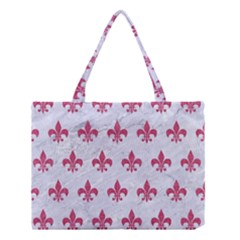 ROYAL1 WHITE MARBLE & PINK DENIM Medium Tote Bag