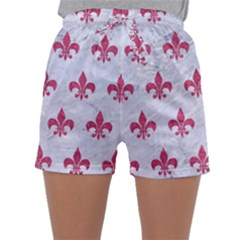 ROYAL1 WHITE MARBLE & PINK DENIM Sleepwear Shorts