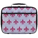 ROYAL1 WHITE MARBLE & PINK DENIM Full Print Lunch Bag View1