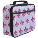 ROYAL1 WHITE MARBLE & PINK DENIM Full Print Lunch Bag View3