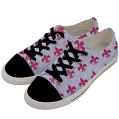 ROYAL1 WHITE MARBLE & PINK DENIM Men s Low Top Canvas Sneakers