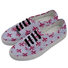 ROYAL1 WHITE MARBLE & PINK DENIM Men s Classic Low Top Sneakers