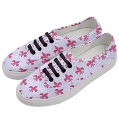 ROYAL1 WHITE MARBLE & PINK DENIM Women s Classic Low Top Sneakers