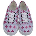 ROYAL1 WHITE MARBLE & PINK DENIM Kids  Classic Low Top Sneakers View1