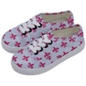 ROYAL1 WHITE MARBLE & PINK DENIM Kids  Classic Low Top Sneakers View2