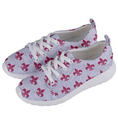 ROYAL1 WHITE MARBLE & PINK DENIM Women s Lightweight Sports Shoes