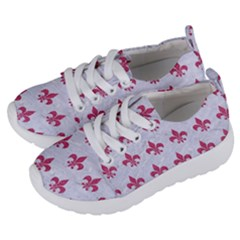 ROYAL1 WHITE MARBLE & PINK DENIM Kids  Lightweight Sports Shoes