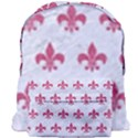 ROYAL1 WHITE MARBLE & PINK DENIM Giant Full Print Backpack View1