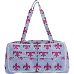 Royal1 White Marble & Pink Denim Multi Function Bag