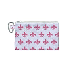 ROYAL1 WHITE MARBLE & PINK DENIM Canvas Cosmetic Bag (Small)