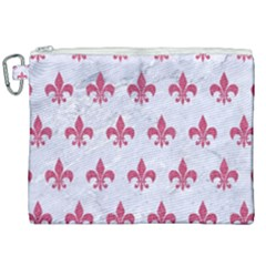 ROYAL1 WHITE MARBLE & PINK DENIM Canvas Cosmetic Bag (XXL)