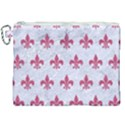 ROYAL1 WHITE MARBLE & PINK DENIM Canvas Cosmetic Bag (XXL) View1