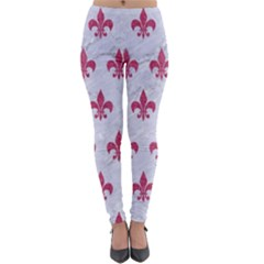 ROYAL1 WHITE MARBLE & PINK DENIM Lightweight Velour Leggings
