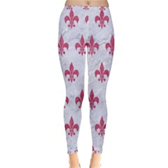 ROYAL1 WHITE MARBLE & PINK DENIM Inside Out Leggings
