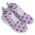 ROYAL1 WHITE MARBLE & PINK DENIM Women s Lightweight High Top Sneakers View3