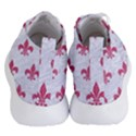 ROYAL1 WHITE MARBLE & PINK DENIM Women s Lightweight High Top Sneakers View4
