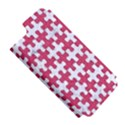 PUZZLE1 WHITE MARBLE & PINK DENIM Apple iPhone 5 Hardshell Case (PC+Silicone) View5
