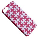 PUZZLE1 WHITE MARBLE & PINK DENIM Apple iPhone 5 Classic Hardshell Case View5
