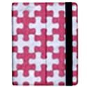 PUZZLE1 WHITE MARBLE & PINK DENIM Apple iPad 3/4 Flip Case View2