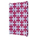 PUZZLE1 WHITE MARBLE & PINK DENIM Apple iPad Mini Hardshell Case View3