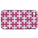 PUZZLE1 WHITE MARBLE & PINK DENIM Apple iPhone 4/4S Hardshell Case (PC+Silicone) View1