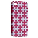 PUZZLE1 WHITE MARBLE & PINK DENIM Apple iPhone 4/4S Hardshell Case (PC+Silicone) View2