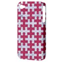 PUZZLE1 WHITE MARBLE & PINK DENIM Apple iPhone 4/4S Hardshell Case (PC+Silicone) View3