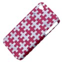 PUZZLE1 WHITE MARBLE & PINK DENIM Apple iPhone 4/4S Hardshell Case (PC+Silicone) View4