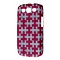 PUZZLE1 WHITE MARBLE & PINK DENIM Samsung Galaxy S III Classic Hardshell Case (PC+Silicone) View3