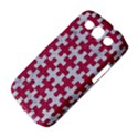 PUZZLE1 WHITE MARBLE & PINK DENIM Samsung Galaxy S III Classic Hardshell Case (PC+Silicone) View4