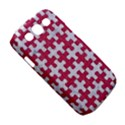 PUZZLE1 WHITE MARBLE & PINK DENIM Samsung Galaxy S III Classic Hardshell Case (PC+Silicone) View5