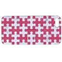 PUZZLE1 WHITE MARBLE & PINK DENIM Apple iPhone 5 Hardshell Case with Stand View1