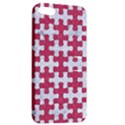 PUZZLE1 WHITE MARBLE & PINK DENIM Apple iPhone 5 Hardshell Case with Stand View2