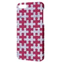PUZZLE1 WHITE MARBLE & PINK DENIM Apple iPhone 5 Hardshell Case with Stand View3