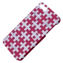 PUZZLE1 WHITE MARBLE & PINK DENIM Apple iPhone 5 Hardshell Case with Stand View4