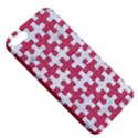 PUZZLE1 WHITE MARBLE & PINK DENIM Apple iPhone 5 Hardshell Case with Stand View5