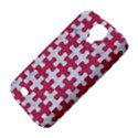 PUZZLE1 WHITE MARBLE & PINK DENIM Samsung Galaxy S4 Classic Hardshell Case (PC+Silicone) View4