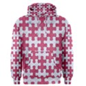 PUZZLE1 WHITE MARBLE & PINK DENIM Men s Pullover Hoodie View1