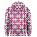 PUZZLE1 WHITE MARBLE & PINK DENIM Men s Pullover Hoodie View2
