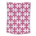 PUZZLE1 WHITE MARBLE & PINK DENIM Medium Tapestry View1