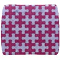 PUZZLE1 WHITE MARBLE & PINK DENIM Back Support Cushion View1