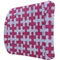 PUZZLE1 WHITE MARBLE & PINK DENIM Back Support Cushion View3