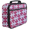 PUZZLE1 WHITE MARBLE & PINK DENIM Full Print Lunch Bag View3