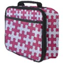 PUZZLE1 WHITE MARBLE & PINK DENIM Full Print Lunch Bag View4