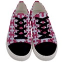 PUZZLE1 WHITE MARBLE & PINK DENIM Men s Low Top Canvas Sneakers View1